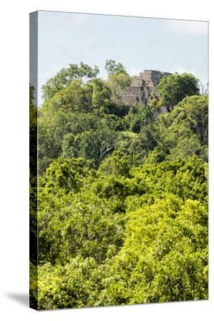 ?Viva Mexico! Collection - Ancient Maya City within the jungle III - Calakmul-Philippe Hugonnard-Stretched Canvas Print