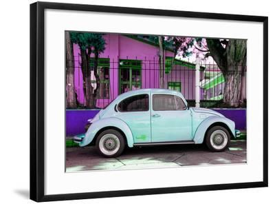 "¡Viva Mexico! Collection - ""Summer Blue Car"" VW Beetle-Philippe Hugonnard-Framed Photographic Print"