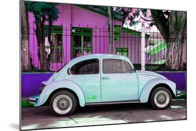 "¡Viva Mexico! Collection - ""Summer Blue Car"" VW Beetle-Philippe Hugonnard-Mounted Photographic Print"