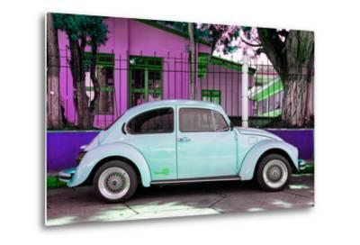"¡Viva Mexico! Collection - ""Summer Blue Car"" VW Beetle-Philippe Hugonnard-Metal Print"