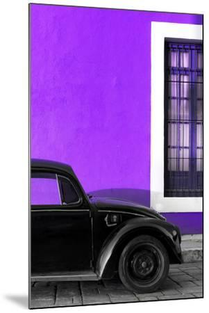?Viva Mexico! Collection - Black VW Beetle with Purple Street Wall-Philippe Hugonnard-Mounted Photographic Print