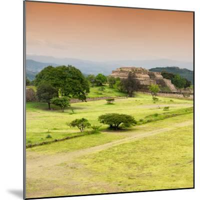 ¡Viva Mexico! Square Collection - Ruins of Monte Alban at Sunset II-Philippe Hugonnard-Mounted Photographic Print