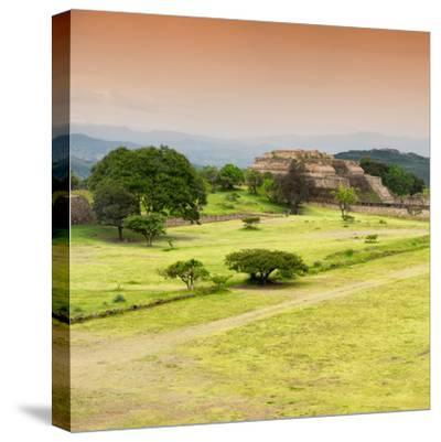¡Viva Mexico! Square Collection - Ruins of Monte Alban at Sunset II-Philippe Hugonnard-Stretched Canvas Print
