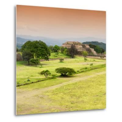 ¡Viva Mexico! Square Collection - Ruins of Monte Alban at Sunset II-Philippe Hugonnard-Metal Print