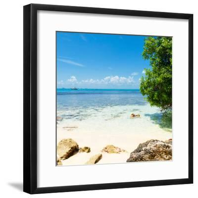 ¡Viva Mexico! Square Collection - Coastline Paradise in Isla Mujeres-Philippe Hugonnard-Framed Photographic Print
