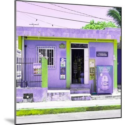 "¡Viva Mexico! Square Collection - ""La Esquina"" Purple Supermarket - Cancun-Philippe Hugonnard-Mounted Photographic Print"