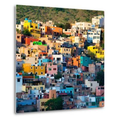 ¡Viva Mexico! Square Collection - Guanajuato at Sunset-Philippe Hugonnard-Metal Print