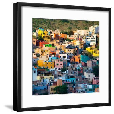 ¡Viva Mexico! Square Collection - Guanajuato at Sunset-Philippe Hugonnard-Framed Photographic Print