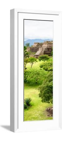 ¡Viva Mexico! Panoramic Collection - Pyramid of Monte Alban V-Philippe Hugonnard-Framed Photographic Print