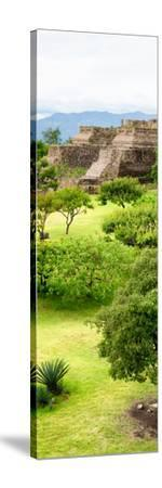 ¡Viva Mexico! Panoramic Collection - Pyramid of Monte Alban V-Philippe Hugonnard-Stretched Canvas Print