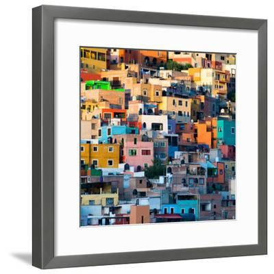 ¡Viva Mexico! Square Collection - Guanajuato at Sunset II-Philippe Hugonnard-Framed Photographic Print