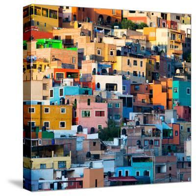 ¡Viva Mexico! Square Collection - Guanajuato at Sunset II-Philippe Hugonnard-Stretched Canvas Print