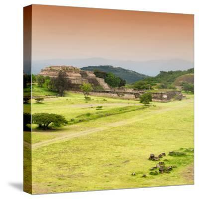 ¡Viva Mexico! Square Collection - Ruins of Monte Alban at Sunset III-Philippe Hugonnard-Stretched Canvas Print