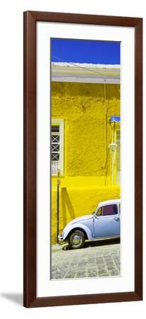 ¡Viva Mexico! Panoramic Collection - VW Beetle Car and Yellow Wall-Philippe Hugonnard-Framed Photographic Print