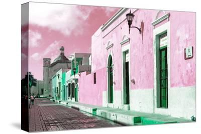 ¡Viva Mexico! Collection - Pink Campeche-Philippe Hugonnard-Stretched Canvas Print