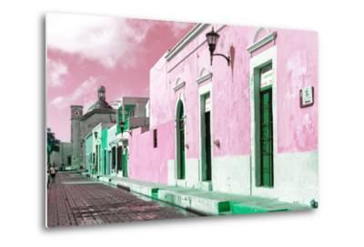 ¡Viva Mexico! Collection - Pink Campeche-Philippe Hugonnard-Metal Print
