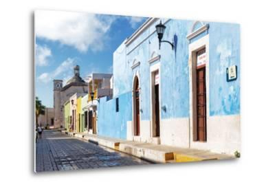 ?Viva Mexico! Collection - Blue Campeche-Philippe Hugonnard-Metal Print