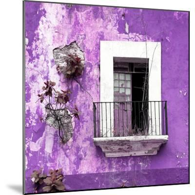 ¡Viva Mexico! Square Collection - Old Purple Facade-Philippe Hugonnard-Mounted Photographic Print