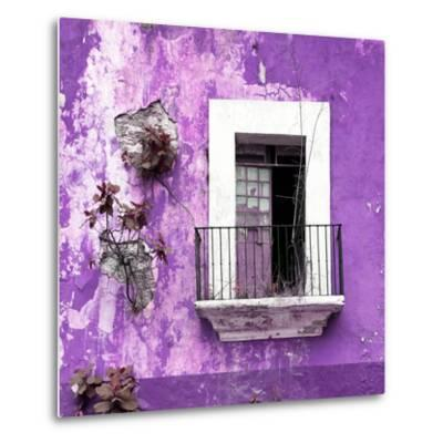 ¡Viva Mexico! Square Collection - Old Purple Facade-Philippe Hugonnard-Metal Print