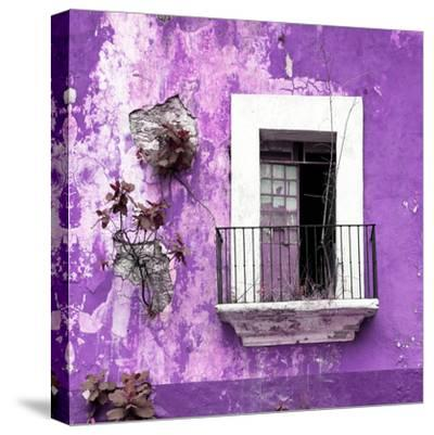 ¡Viva Mexico! Square Collection - Old Purple Facade-Philippe Hugonnard-Stretched Canvas Print