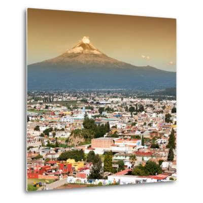 ¡Viva Mexico! Square Collection - Popocatepetl Volcano in Puebla II-Philippe Hugonnard-Metal Print