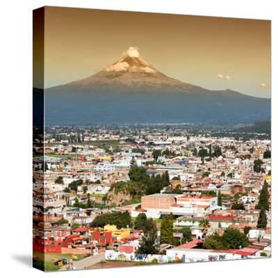 ¡Viva Mexico! Square Collection - Popocatepetl Volcano in Puebla II-Philippe Hugonnard-Stretched Canvas Print