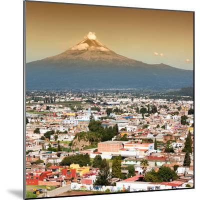 ¡Viva Mexico! Square Collection - Popocatepetl Volcano in Puebla II-Philippe Hugonnard-Mounted Photographic Print