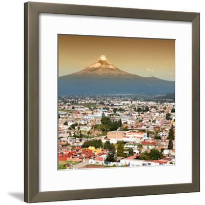 ¡Viva Mexico! Square Collection - Popocatepetl Volcano in Puebla II-Philippe Hugonnard-Framed Photographic Print