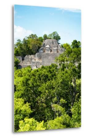 ?Viva Mexico! Collection - Ancient Maya City within the jungle of Calakmul VI-Philippe Hugonnard-Metal Print
