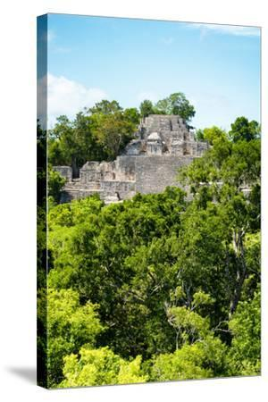 ?Viva Mexico! Collection - Ancient Maya City within the jungle of Calakmul VI-Philippe Hugonnard-Stretched Canvas Print