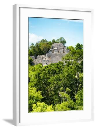 ?Viva Mexico! Collection - Ancient Maya City within the jungle of Calakmul VI-Philippe Hugonnard-Framed Photographic Print