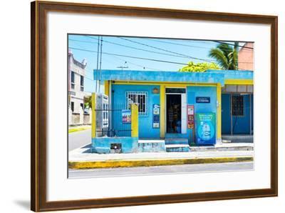 "?Viva Mexico! Collection - ""La Esquina"" Blue Supermarket - Cancun-Philippe Hugonnard-Framed Photographic Print"