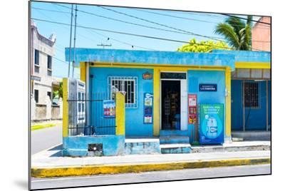 "?Viva Mexico! Collection - ""La Esquina"" Blue Supermarket - Cancun-Philippe Hugonnard-Mounted Photographic Print"