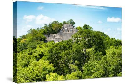 ?Viva Mexico! Collection - Ancient Maya City within the jungle of Calakmul V-Philippe Hugonnard-Stretched Canvas Print