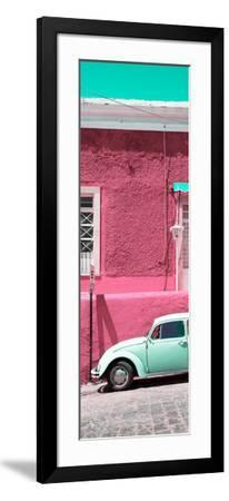 ¡Viva Mexico! Panoramic Collection - VW Beetle Car and Pink Wall-Philippe Hugonnard-Framed Photographic Print