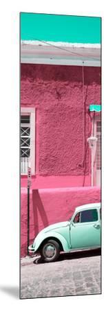 ¡Viva Mexico! Panoramic Collection - VW Beetle Car and Pink Wall-Philippe Hugonnard-Mounted Photographic Print