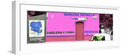 ¡Viva Mexico! Panoramic Collection - Pink Papeleria Estrella-Philippe Hugonnard-Framed Photographic Print
