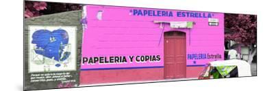 ¡Viva Mexico! Panoramic Collection - Pink Papeleria Estrella-Philippe Hugonnard-Mounted Photographic Print
