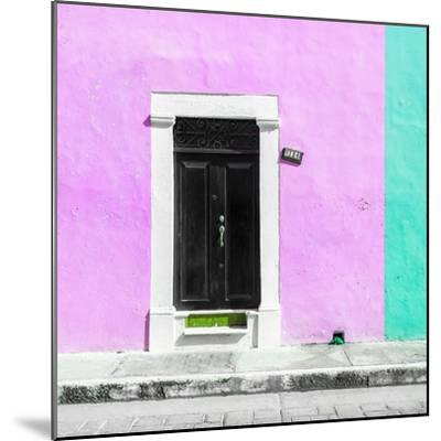 ¡Viva Mexico! Square Collection - Pink and Coral Green Facade - Campeche-Philippe Hugonnard-Mounted Photographic Print