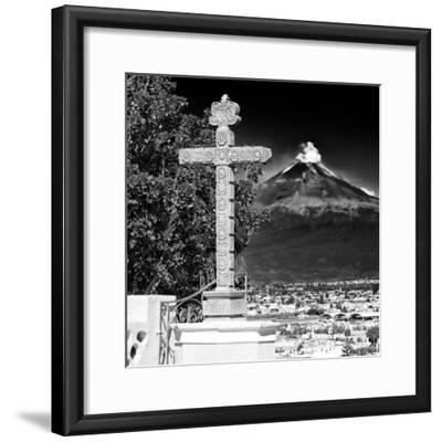 ¡Viva Mexico! Square Collection - Popocatepetl Volcano in Puebla IX-Philippe Hugonnard-Framed Photographic Print