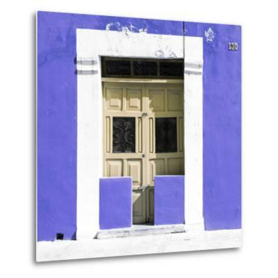 "¡Viva Mexico! Square Collection - ""130 Street"" Purple Wall-Philippe Hugonnard-Metal Print"