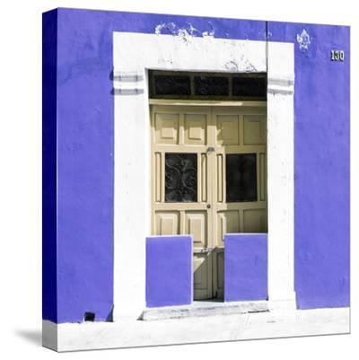 "¡Viva Mexico! Square Collection - ""130 Street"" Purple Wall-Philippe Hugonnard-Stretched Canvas Print"