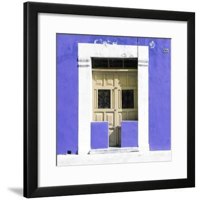 "¡Viva Mexico! Square Collection - ""130 Street"" Purple Wall-Philippe Hugonnard-Framed Photographic Print"