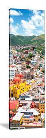 ¡Viva Mexico! Panoramic Collection - Guanajuato Colorful Cityscape V-Philippe Hugonnard-Stretched Canvas Print