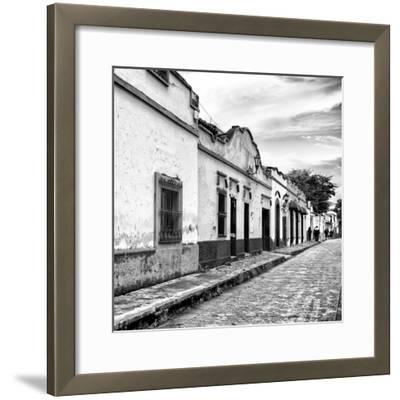 ¡Viva Mexico! Square Collection - Street Scene in San Cristobal de Las Casas I-Philippe Hugonnard-Framed Photographic Print
