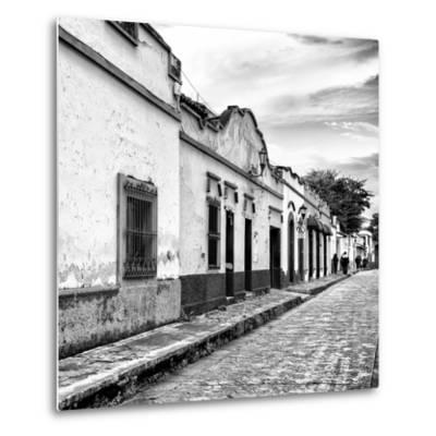 ¡Viva Mexico! Square Collection - Street Scene in San Cristobal de Las Casas I-Philippe Hugonnard-Metal Print