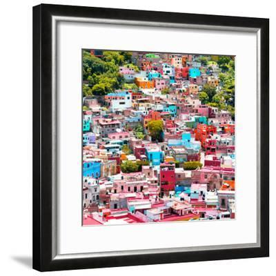¡Viva Mexico! Square Collection - Colorful Guanajuato VII-Philippe Hugonnard-Framed Photographic Print