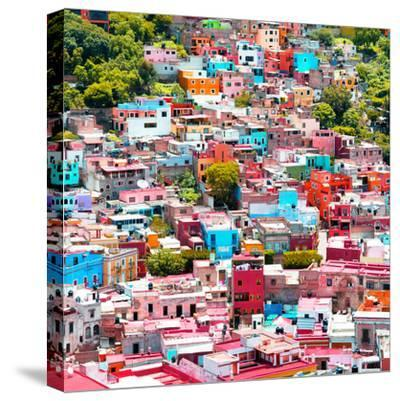 ¡Viva Mexico! Square Collection - Colorful Guanajuato VII-Philippe Hugonnard-Stretched Canvas Print