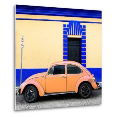 ¡Viva Mexico! Square Collection - Coral VW Beetle - San Cristobal-Philippe Hugonnard-Metal Print