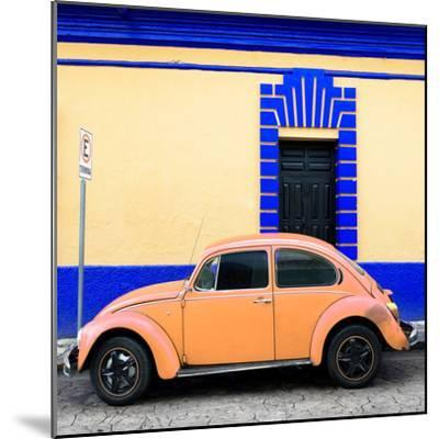 ¡Viva Mexico! Square Collection - Coral VW Beetle - San Cristobal-Philippe Hugonnard-Mounted Photographic Print